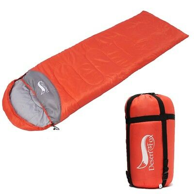 DesertFox -5℃ Sleeping Bag Waterproof Thermal Camping Hiking Envelope 220x75cm