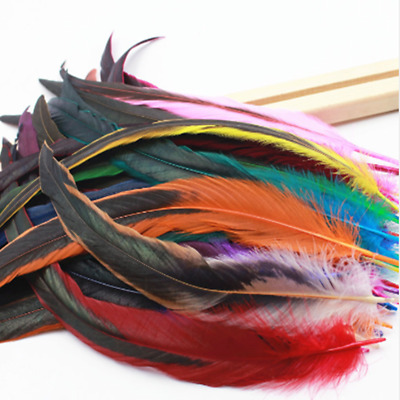 """Wholesale! 10-1000pcs Beautiful Badger Saddle Pretty Rooster Feathers 12-14""""inch"""