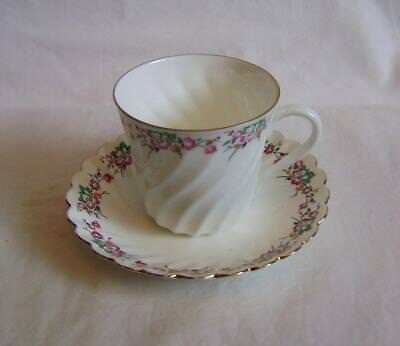 Vintage Russian Porcelain Hand decorated Cup & Saucer - mint condition