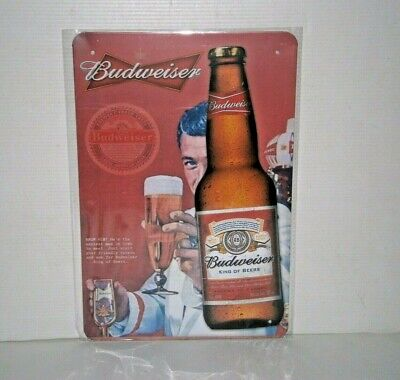 BMS3 BUDWEISER Metal Sign New 30 cm H X 20 cm W