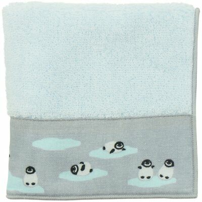 HAMAMONYO Tenugui Towel 'Cute Penguins' (23cm×23cm Soft 100% Cotton Hand Towel)