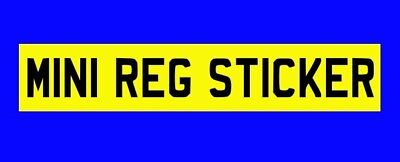 Rear Stick On Mini Number Plate For Car, Caravan, Trailer 300mm X 85mm Free P&P