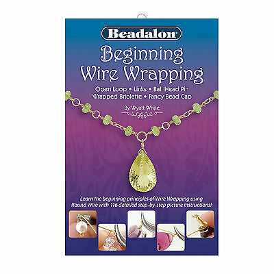 Beadalon Beginning Wire Wrapping Booklet, loops, links, head pin
