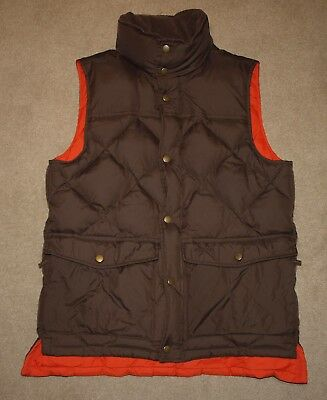 BARBOUR DOWN EXPLORER QUILTED GILET in Brown - Small [2690]