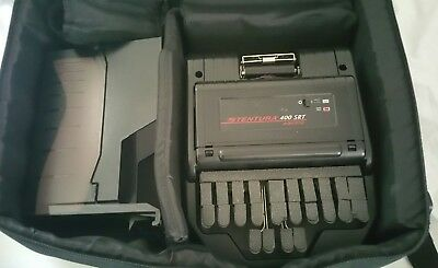 Stentura  400 SRT Court Reporter Stenograph with Case and power supply.