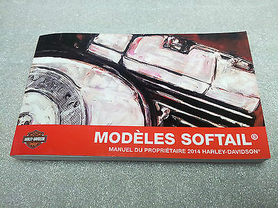 2014 Harley Davidson NEW Softail Models FRENCH Owner's Manual 99469-14FR
