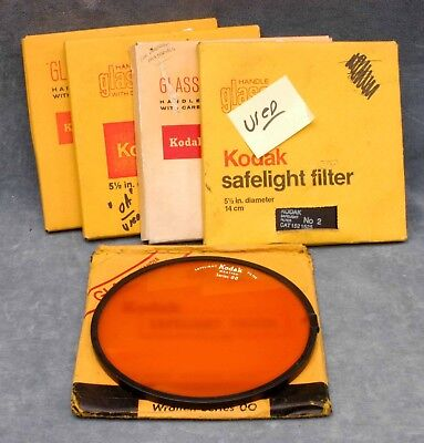 "Kodak Used 5-1/2"" Safelight Filter In Box - Your Choice - $21.99 Shipped Usa"