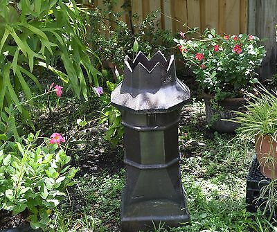 Antique Authentic England Chimney Pot English Victorian Crow Top Heavy Fire Clay