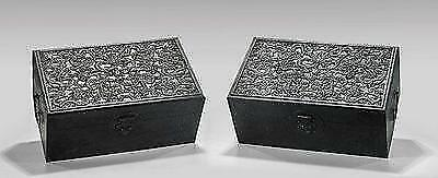 Two Large Chinese Carved Wood Chests.