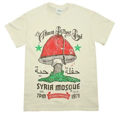 Allman Brothers Syria Mosque T-Shirt Men's Officially Licensed Band Tee S-XL