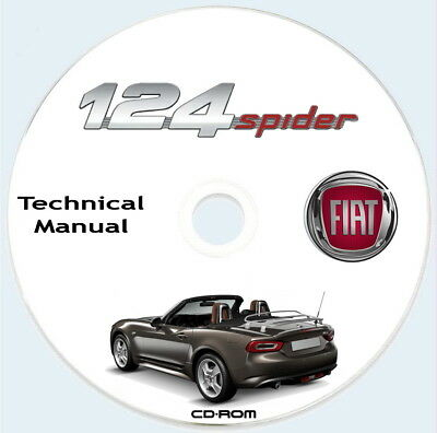 Fiat 124 Spider,Technical Manual,manuale tecnico in Inglese.