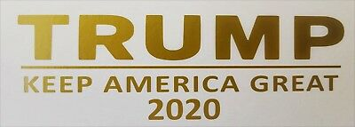 Two Donald Trump for President 2020 sticker GOLD