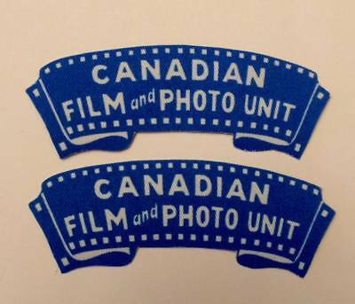 Reproduction printed/canvas Canadian Film and Photo Unit shoulder titles/flash