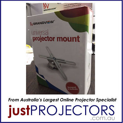 Grandview Projector Mount WHITE GVMWC from Just Projectors Australia