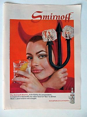 1968 Print Ad Smirnoff Vodka ~ The Devilishly Dry Proposition She-Devil