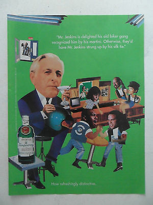 1995 Print Ad Tanqueray Gin Distilled English ~ Mr. Jenkins Biker Gang
