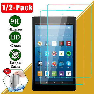 For Amazon Kindle Fire 7 8 2017 Clear Premium Tempered Glass Screen Protector 9H