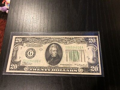1934A $20 Federal Reserve Note, Chicago District.