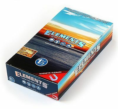1x BOX ELEMENTS ULTRA THIN RICE CIGARETTE ROLLING PAPERS SIZE 1 1/4