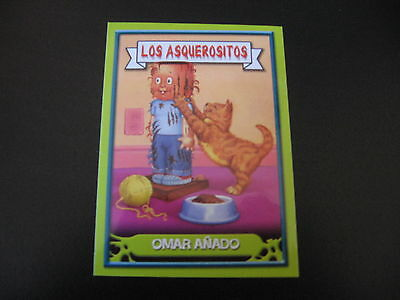 Garbage Pail Kids Los Asquerositos #173 Scratching Pole PAUL/Clawed CLAUDE OS10