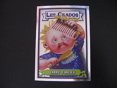 Garbage Pail Kids Les Crados #128 LARRY O'MILIEU Groovy GREG/Combin' HARRY OS11