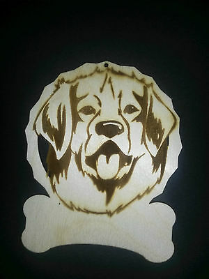 Personalized Golden Retriever dog ornament
