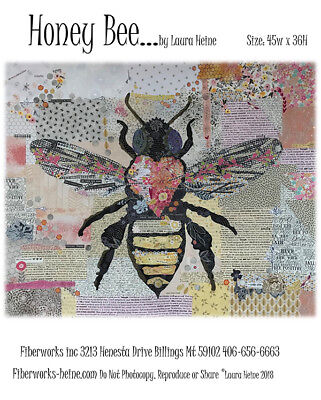 Quilt Pattern ~ HONEY BEE ~ by Laura Heine Fiberworks