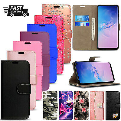 Case For Samsung S8 S9 S10 S20 Plus Ultra Leather Wallet Flip Stand Phone Cover