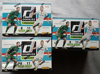 3x Panini Donruss Soccer Fußball Tradings Cards Blaster Box 2016/17 252 Cards!!