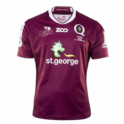 Queensland Reds Super Rugby 2018 Zoo Sports Heritage Jersey Sizes S-3XL!