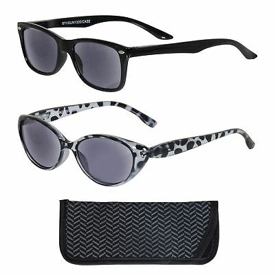 Betaview Reading Sunglasses With Case Mens Womens Sun Readers In Black Grey