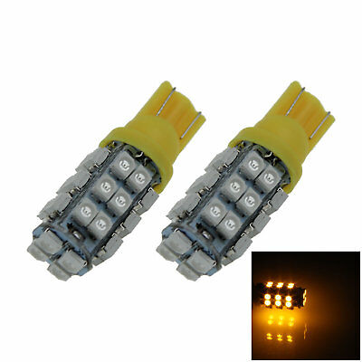 2x Yellow RV T10 W5W Malibu Landscape Light Wedge Lamp 28 3528 SMD LED A034