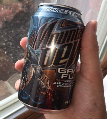 Mountain Dew Halo 3 Game Fuel FULL CAN Limited Edtion Citrus Cherry 2008 MTN