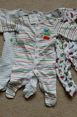 Next New Baby Boys Sleepsuits Three Pack (Up To 1 Month)