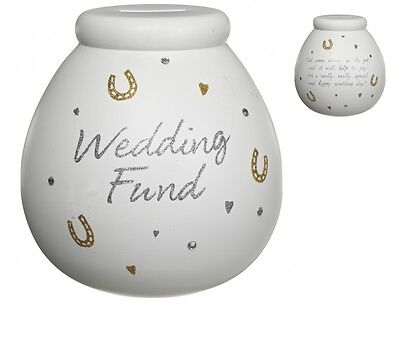 Pot Of Dreams Ceramic Money Box/ Pot WEDDING FUND (401029)  Break To Open