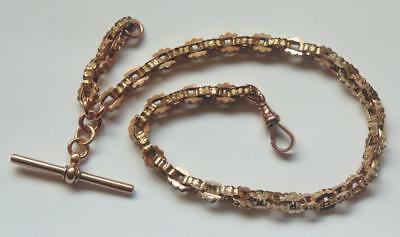 Antique Victorian 9 Carat Gold Watch Chain Bracelet Weight 22 Grams