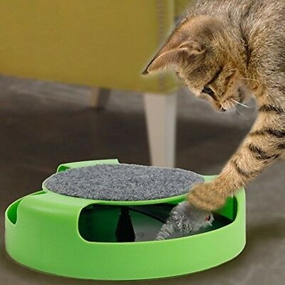 Catch The Mouse Plush Moving Cat Kitten Toy Scratching Claw Care Mat Play Toy