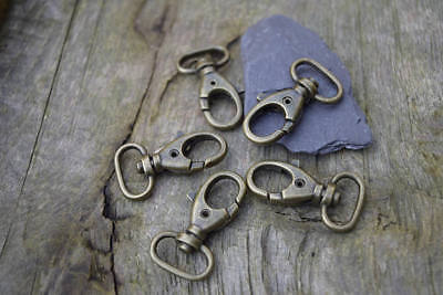 Swivel LOBSTER CLAW CLASPS Trigger Clips Snap Hook Antique Brass for 15mm strap
