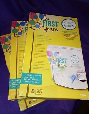The First Years Steam Clean Reusable Microwave Sterilizer Bags (24 bags)