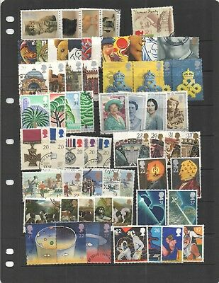 1990 - 99 Great Britain used commemorative sets. Complete, good to fine overall.