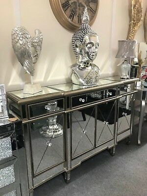 Large Venetian Mirrored Sideboard Large Contemporary Mirrored Sideboard 749 99 Picclick Uk
