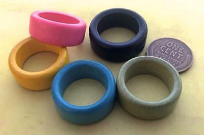 Vintage Size 6 - 8 Wood Wooden Rings 5