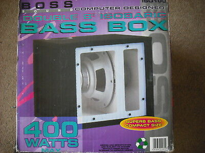 CAR SUBWOOFER BOSS Double Isobaric Bass Box Car Hi Fi New Boxed Old Stock  400 W