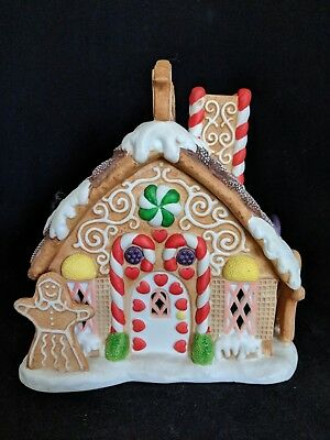 Partylite Christmas Gingerbread Tealight House P7304 RETIRED | NO BOX