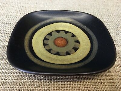 Vintage 1970S Mid Century Denby Arabesque Trinket Pin Dish By Gill Pemberton