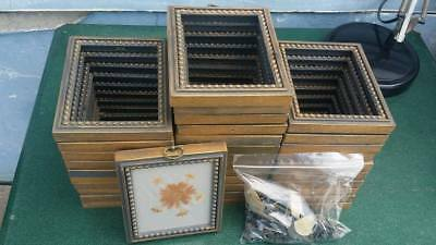 "Lot of 34~Vintage~Ornate Small 5"" x 6"" Picture Frames~Plastic~Painting~Hobnail"