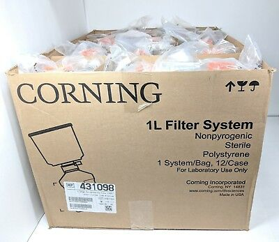 12 Corning 431098 1L Bottle-top Vacuum Filter System 0.22um PES Membrane Filters