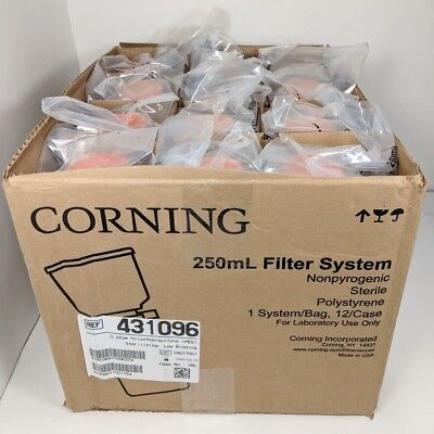 12 Corning 431096 250mL Bottle Vacuum Filter System 0.22um PES Membrane Filters