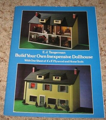 Build Your Own Inexpensive Dollhouse~E J Tangerman~Preowned~Very Good Cond