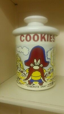 "McCoy Pottery Cookie Jar Yosemite Sam Vintage 1970s 7 3/4"" Ceramic"